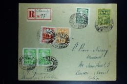 Letland / Latvia Registered Letter Tukums Un Otran To Deurne Belgium 1938  R-Label Hand Written - Lettland