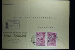 Letland / Latvia Registered Letter Tukums To Dzirciema Riga  1938 - Lettland