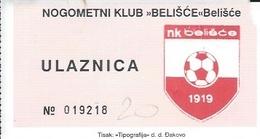 Sport Ticket UL000425 - Football (Soccer / Calcio) Belisce - Tickets & Toegangskaarten