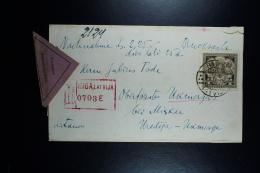 Letland / Latvia Registered Letter Remboursement Riga To Ukmerge 1930 - Lettland