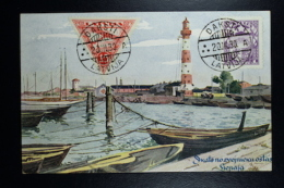 Letland / Latvia Postcard Airmail Stamps DAKSTI  1930 - Lettland