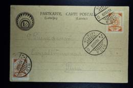 Letland / Latvia Postcard PASTKARTE 1920 Riga To Pura - Lettland