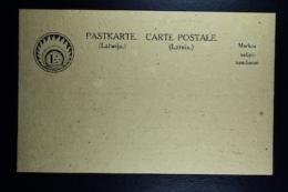 Letland / Latvia Postcard PASTKARTE 1920 Unused - Lettland