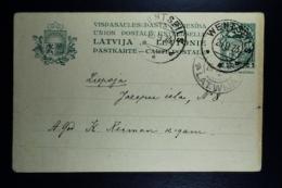 Letland / Latvia Postcard Mi Nr P1 Used  Wentsfils 1923 - Lettland