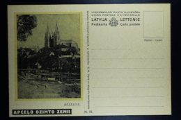 Letland / Latvia Postcard Carte Postale Not Used  Apcelo Dzimto Zemi!   Rezekne   Nr 37 - Lettland
