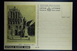 Letland / Latvia Postcard Carte Postale Not Used  Apcelo Dzimto Zemi  Nr 10  Riga - Lettland