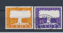 Duitsland/Germany/Allemagne/Deutschland Saarland 1957 Mi: 402-403 (Gebr/used/obl/o)(1078) - 1957-59 Bondsland