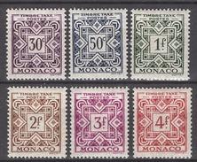 MONACO 1946 / 1957  N° 30 A 35  -  6 TT NEUFS*  (lot23) - Segnatasse