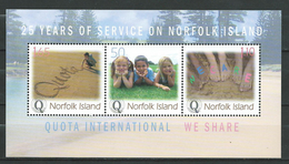 "Norfolk Island 2004 The 25th Anniversary Of The Organization ""Quota International"" Of Norfolk.S/S.MNH"