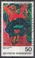 "1138 Germania 1974  Bundespost "" Pechstein Asleep "" Quadro Dipinto Da Erich Heckel Viaggiato Used  Germany"