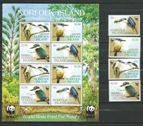 Norfolk Island 2004 WWF Birds.Worldwide Nature Protection.stamps & S/S.MNH - Norfolk Eiland