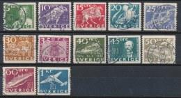 Zweden/Sweden/Schweden/Suede 1936 Mi: 227A-238A Yt: 235-246 (Gebr/used/obl/o)(216) - Zweden