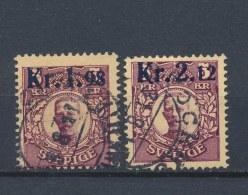 Zweden/Sweden/Schweden/Suede 1917 Mi: 107-108 (Gebr/used/obl/o)(665)