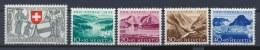 Zwitserland/Switzerland/Suisse/Schweiz 1952 Mi: 570-574 Yt: 521-525 (Ongebr/MH/Neuf Avec Ch/Ungebr/*)(269) - Unused Stamps