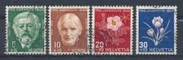 Zwitserland/Switzerland/Suisse/Schweiz 1945 Mi: 465-468 Yt: 423-426 (Gebr/used/obl/o)(1161)