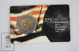 Catalunya 2016 Private Proof Commemorative 2 Euro Coin Card - 375th Anniversary Of Pau Claris - Catalan Republic - EURO