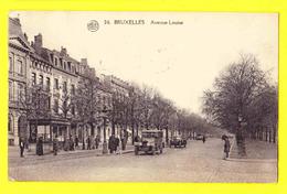 * Brussel - Bruxelles - Brussels * (Albert, Nr 26) Avenue Louise, Louizalaan, Animée, Car Auto Voiture Oldtimer, Tram - Bruxelles-ville