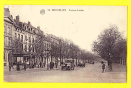 * Brussel - Bruxelles - Brussels * (Albert, Nr 26) Avenue Louise, Louizalaan, Animée, Car Auto Voiture Oldtimer, Tram - Brussel (Stad)