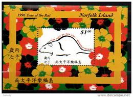 NORFOLK ISLAND 1996 YEAR OF THE  RAT MNH