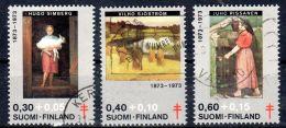 1973, Finlande, Surtaxe Au Profit Des Oeuvres Antituberculeuses, YT 694 - 696, Oblitéré, Lot 47216 - Maladies