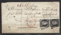 1849, 20 Centimes Noir Du Bureau Central Rouge + R ( Recommandé ? )