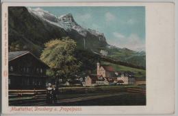 Muotathal, Drusberg Und Pragelpass - Animee Belebt - Photo: Wehrli No. 1613 - SZ Schwyz