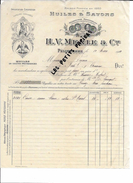 13 - Bouches-du-rhône - PELISSANNE - Facture MERLE - Huiles Et Savons - 1910 - REF 258 - 1900 – 1949