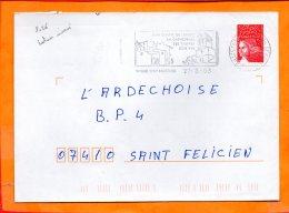 DROME, St Paul 3 Chateaux, Flamme SCOTEM N° 8026, Sa Cathédrale, Ses Truffes, Son Vin, Dateur Inversé - Poststempel (Briefe)