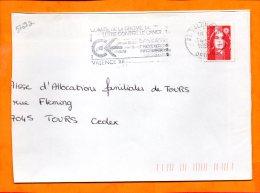DROME, Valence, Flamme SCOTEM N° 5769a, Comité De La Lutte Contre Le Cancer - Poststempel (Briefe)