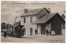 """"""" La FEUILLEE - GARE Des CHEMINS DE FER ARMORICAINS """" TRES RARE ! ( La Feuillée Finistère - Carhaix - Plouguer ) Train - Plonevez-du-Faou"""