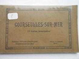 COURSEULLES SUR MER - CARNET DE 12 CPA COMPLET - Courseulles-sur-Mer