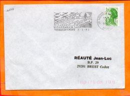 DROME, Vassieux En Vercors, Flamme SCOTEM N° 10174, Compagnon De La Libération Salle Du Souvenir - Marcophilie (Lettres)