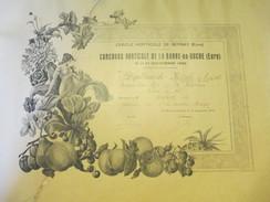 Diplôme Médaille D'Argent/ Cercle Horticole De BERNAY/Concours Horticole De La Barre-en-Ouche/Eure/JOUBERT/1932  DIP147 - Diplômes & Bulletins Scolaires