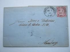 1869 , LÜBECK BAHNHOF , Klarer Stempel Auf Brief
