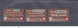 Suisse - Neufs** - Propagande Récupération - Année 1942 - Y.T. 375/377