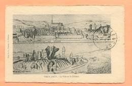 CP 1  VIEUX PACY LA VILLE ET LE CHATEAU 1921 - Pacy-sur-Eure
