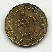 1981 - Argentina 50 Pesos, - Argentina