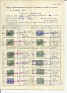 1937: LIBRETTO CONTENENTE 33 MARCHE INA .ISTITUTO NAZIONALE DELLE ASSICURAZIONI. REVENUES, FISCALI, MARCA DA BOLLO - Otros