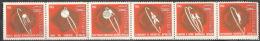 Sowjetunion 2852/57 Sechserstreifen ** Postfrisch 1x In Der Perf. Gefaltet - Unused Stamps