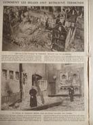 Militaria , Vue De Termonde A Vold'oiseau , Détruite Par La Allemands , Un Prétre Dans Son église Saccagée 1914 - Documenti Storici