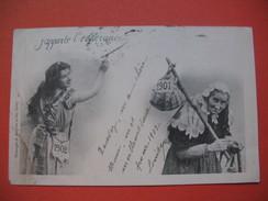 "CPA     Territoire De Belfort   -  ""J'Apporte L'Espérance ""    1 Er Janvier 1902   Voyagé - Belfort – Siège De Belfort"