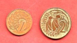 LOT De 2 Monnaies De NOUVELLE ZELANDE , 1971 & 1974 - Nouvelle-Zélande