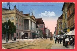 Pologne. Breslau ( Wroclaw). Schweidnitzerstrasse Und Stadttheater. Feldpost Nov. 1917 - Pologne
