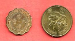 LOT De 2 Monnaies De HONG KONG , 1975 & 1993 - Hong Kong