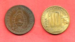 LOT De 2 Monnaies D' ARGENTINE , 1940 & 1947 - Argentine