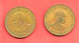 LOT De 2 Monnaies Du KENYA , 1978 & 1980 - Kenya