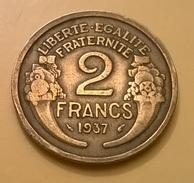 MONETA FRANCESE TERZA REPUBBLICA 2 FRANCHI 1937 OTTIMA CONSERVAZIONE - Francia