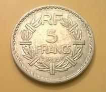 MONETA FRANCESE TERZA REPUBBLICA 5 FRANCHI 1945 OTTIMA CONSERVAZIONE - Francia