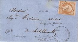 LETTRE.   20 OCT 62.   VIENNE   LEIGNE-SUR-HUSSEAU   1686.     PERLE T22.   ORIGINE RURALE   OR=  ST CHRISTOPHE    / 67 - Marcophilie (Lettres)
