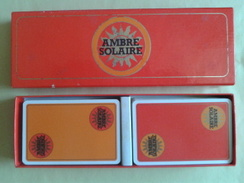 Coffret De 2 Jeux De 52 Cartes Usagées + 3 Jokers Par Jeux. Ambre Solaire. Dans Une Boite Carton - Playing Cards (classic)